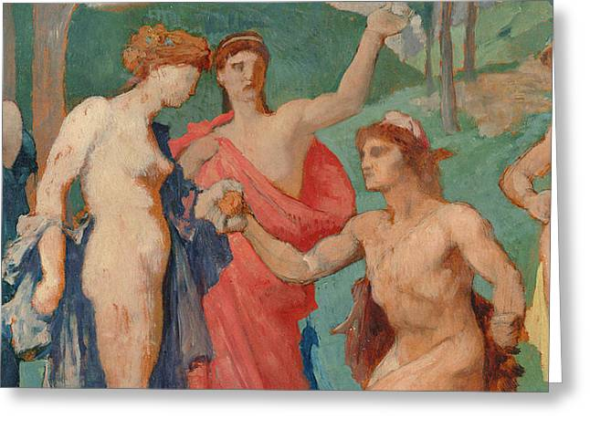 The Judgement Of Paris Greeting Card by Jules Elie Delaunay