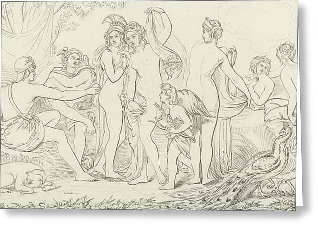 Goddess Print Greeting Cards - The Judgement of Paris Greeting Card by William Etty