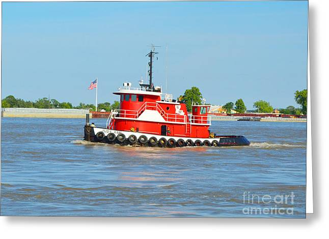 Barges Greeting Cards Greeting Cards - The Judy Ann Greeting Card by Alys Caviness-Gober