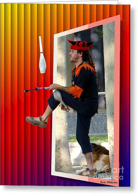 Creative Manipulation Digital Greeting Cards - The Juggler Greeting Card by Sue Melvin
