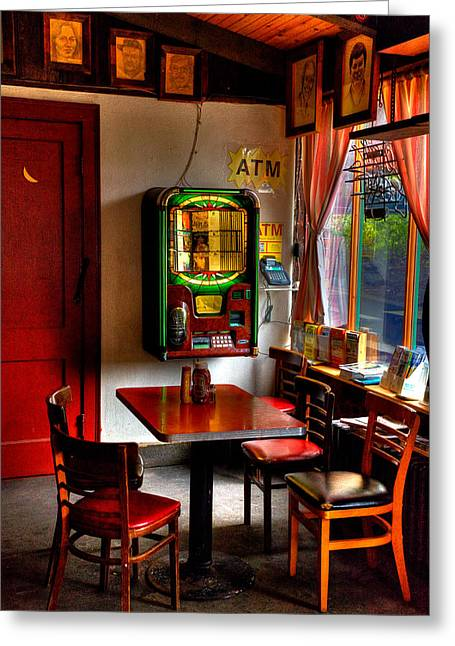 Tap Greeting Cards - The Jukebox at the Tap Room Greeting Card by David Patterson