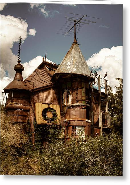 Junk Greeting Cards - The Junk Castle III Greeting Card by David Patterson