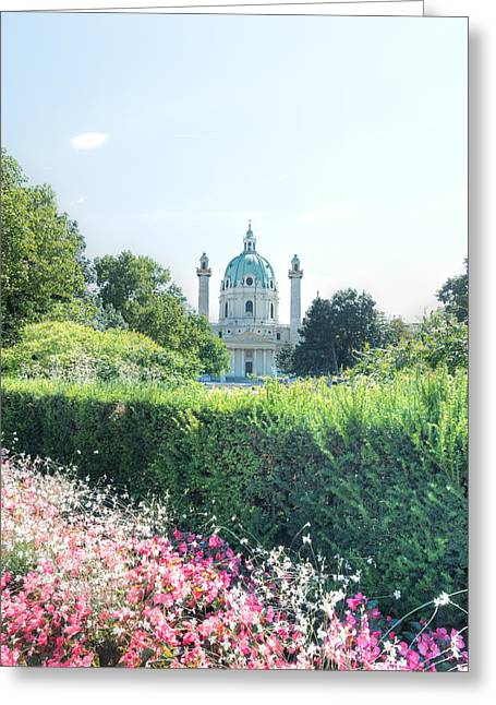 Reformer Digital Art Greeting Cards - The Karlsplatz and the Karlskirche Greeting Card by Jansen Tang Photography