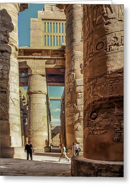 Egyptian Photographs Greeting Cards - The Karnak Temple Greeting Card by Erik Brede