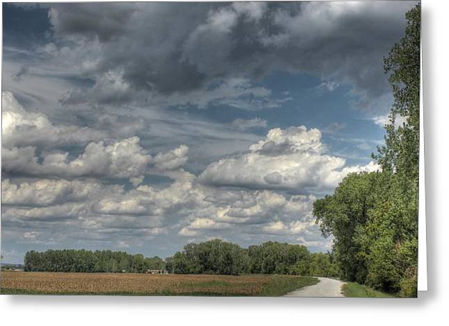 The Katy Trail Greeting Card by Jane Linders