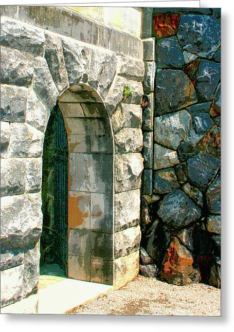 Dungeons Greeting Cards - THE KEEP Biltmore Asheville NC Greeting Card by William Dey