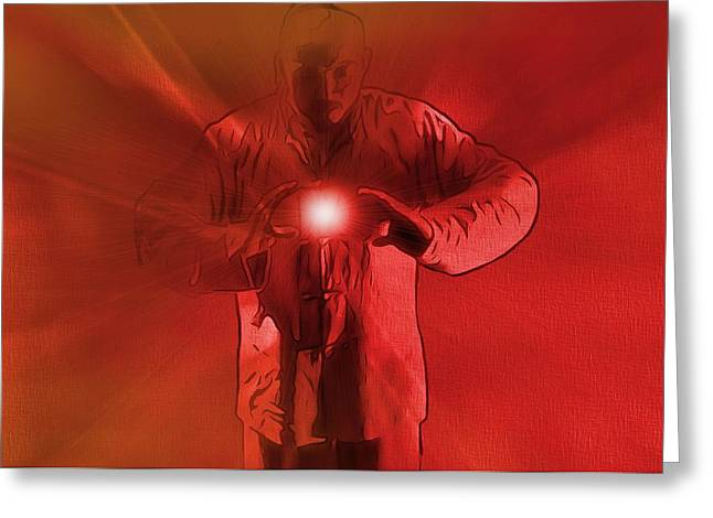 Concentration Digital Greeting Cards - The Keeper Of The Light Greeting Card by Dan Sproul