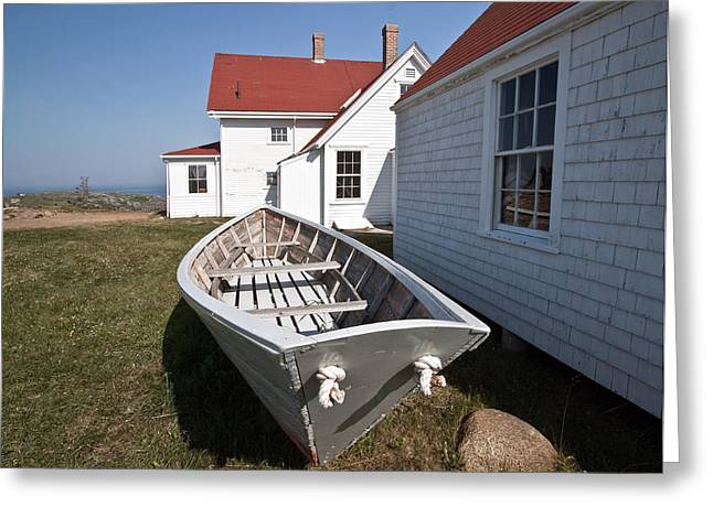 Maine Landscape Greeting Cards - The Keepers House Greeting Card by Patrick Downey