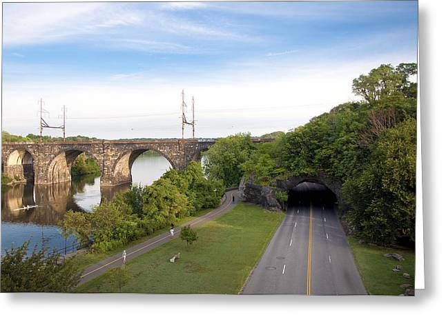Kelly Drive Digital Art Greeting Cards - The Kelly Drive Rock Tunnel Greeting Card by Bill Cannon