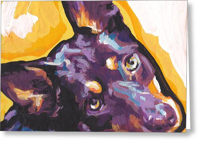 Kelpie Paintings Greeting Cards - The Kelpie Kutie Greeting Card by Lea