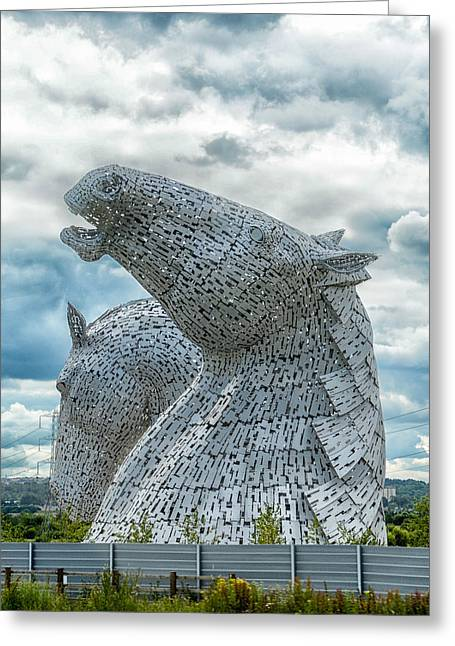 Kelpie Photographs Greeting Cards - The Kelpies Greeting Card by Alan Toepfer