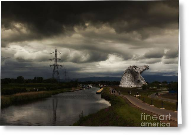 Kelpie Photographs Greeting Cards - The Kelpies Greeting Card by Claire Walsh