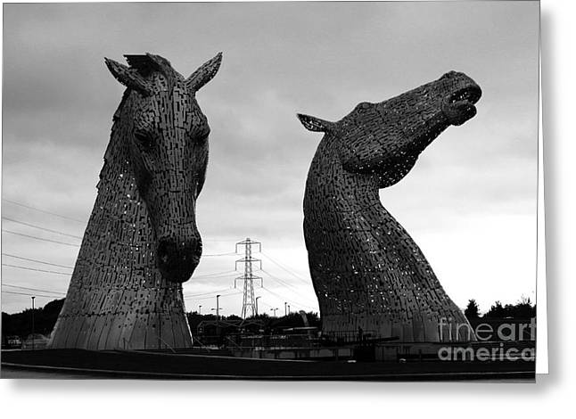 Helix Greeting Cards - The Kelpies in Falkirk Greeting Card by JM Braat Photography