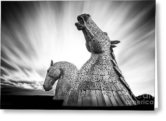 Kelpie Photographs Greeting Cards - The Kelpies Greeting Card by John Farnan