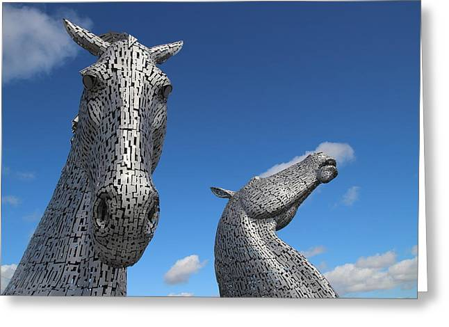 Kelpie Photographs Greeting Cards - The Kelpies Greeting Card by John Messingham