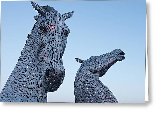 The Kelpies Greeting Card by Stephen Taylor
