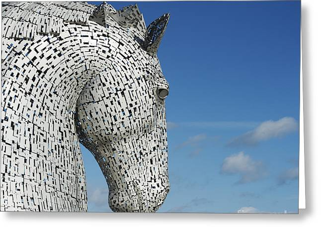 Helix Photographs Greeting Cards - The Kelpies Greeting Card by Tim Gainey