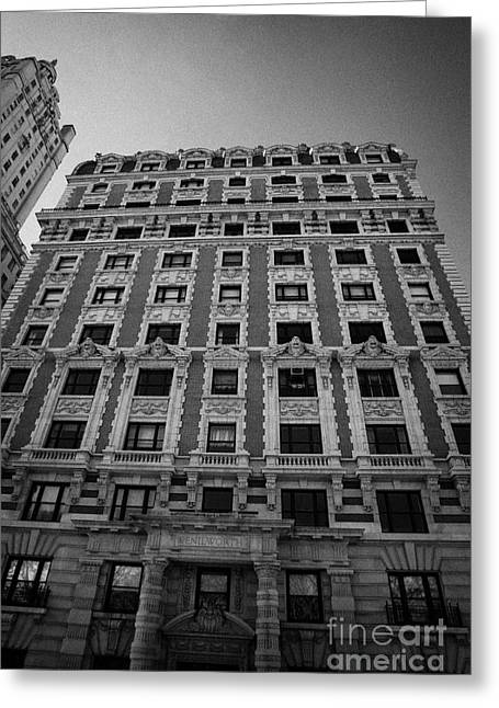 Manhaten Greeting Cards - the Kenilworth building 151 Central Park West upper west side new york city Greeting Card by Joe Fox