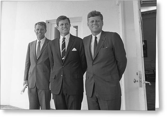 Leader Photographs Greeting Cards - The Kennedy Brothers Greeting Card by War Is Hell Store