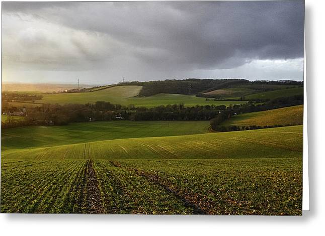 The Kent Countryside Greeting Card by Ian Hufton