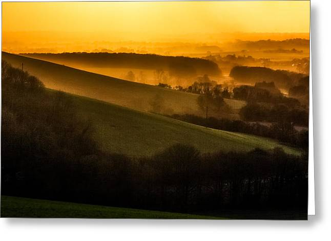 Horton Greeting Cards - The Kent Coutryside.  Greeting Card by Ian Hufton