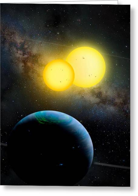 Planet Earth Greeting Cards - The Kepler 35 System Greeting Card by Movie Poster Prints