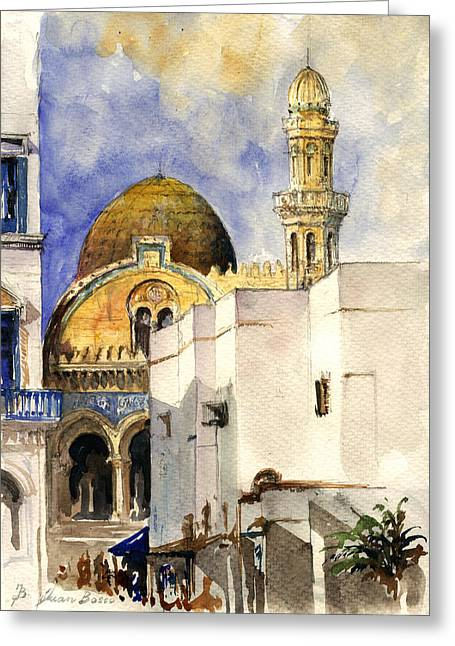 The Ketchaoua Mosque Greeting Card by Juan  Bosco