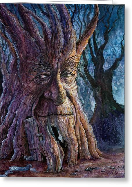 Ent Greeting Cards - The Key Greeting Card by Frank Robert Dixon