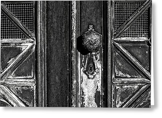 The Key Hole Greeting Card by Darren Fisher