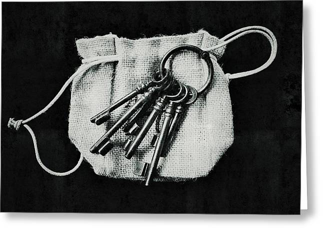 The Keys Greeting Card by Marco Oliveira