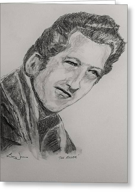 And Jerry Lee Lewis Greeting Cards - The Killer-2 Greeting Card by Barry Jones