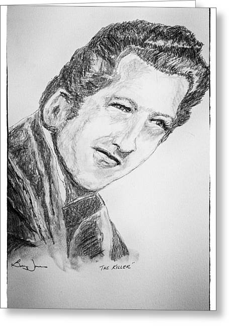 And Jerry Lee Lewis Greeting Cards - The Killer Greeting Card by Barry Jones