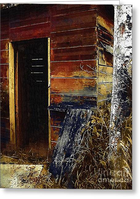 Shed Digital Art Greeting Cards - The Killing Shed Greeting Card by RC DeWinter