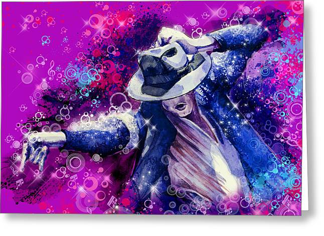 Billie Jean Greeting Cards - The king 2 Greeting Card by MB Art factory