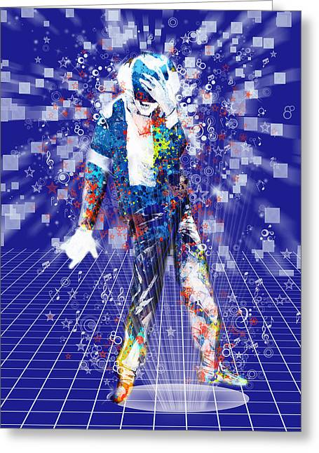 Moon Walk Greeting Cards - The king 4 Greeting Card by MB Art factory