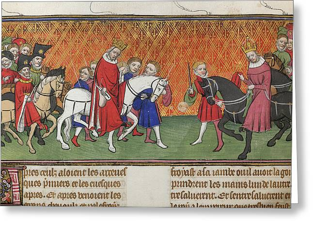 The King And Emperor Meeting Greeting Card by British Library