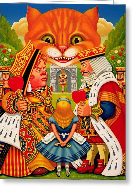Royalty Greeting Cards - The King And Queen Of Hearts, 2010 Greeting Card by Frances Broomfield