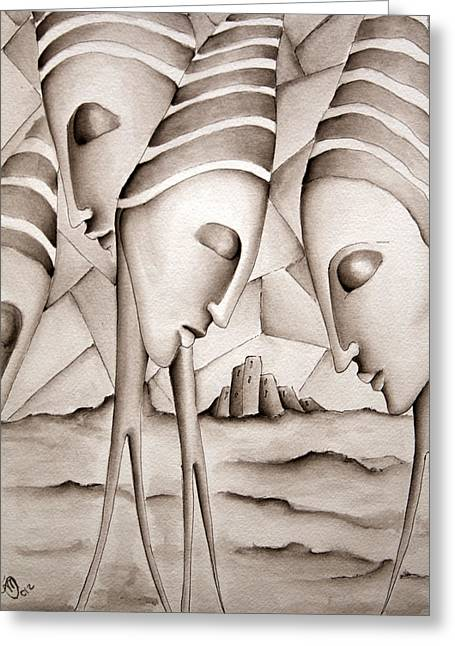 Sand Castles Greeting Cards - The King is Dead  Greeting Card by Simona  Mereu