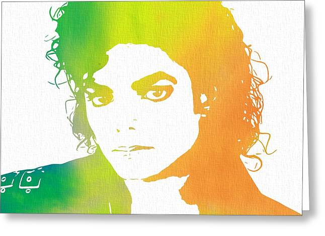 Beat It Greeting Cards - The King Of Pop Art Greeting Card by Dan Sproul