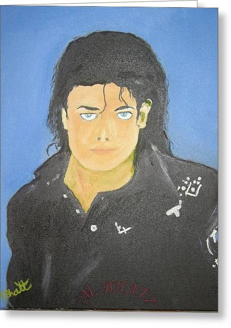 Popartist Greeting Cards - The King of Pop Greeting Card by M Bhatt