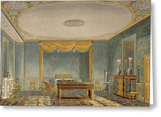 Desk Drawings Greeting Cards - The Kings Bedroom, From Views Greeting Card by English School