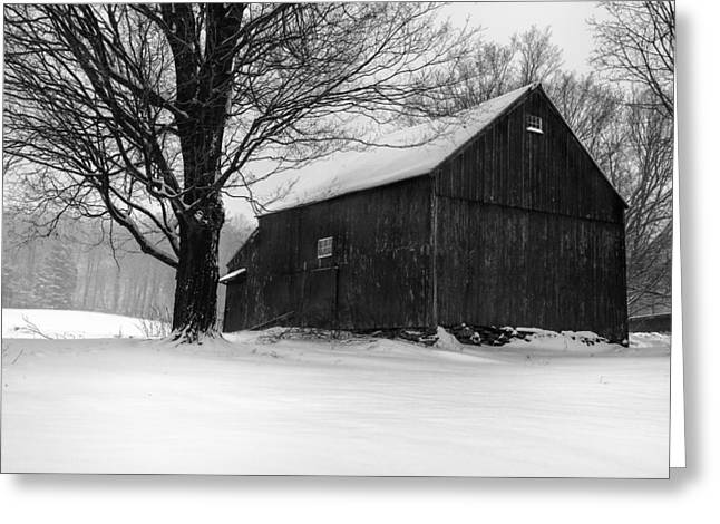 Winter Scenes Rural Scenes Greeting Cards - The Kinney Barn by Thomas Schoeller Greeting Card by Thomas Schoeller