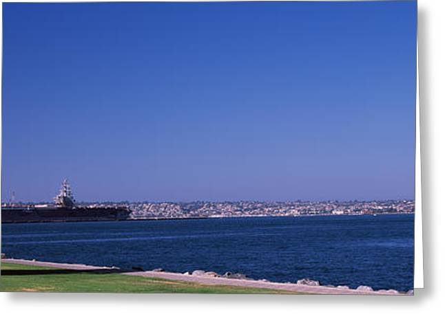 Panoramic Photography Greeting Cards - The Kiss Between A Sailor And A Nurse Greeting Card by Panoramic Images