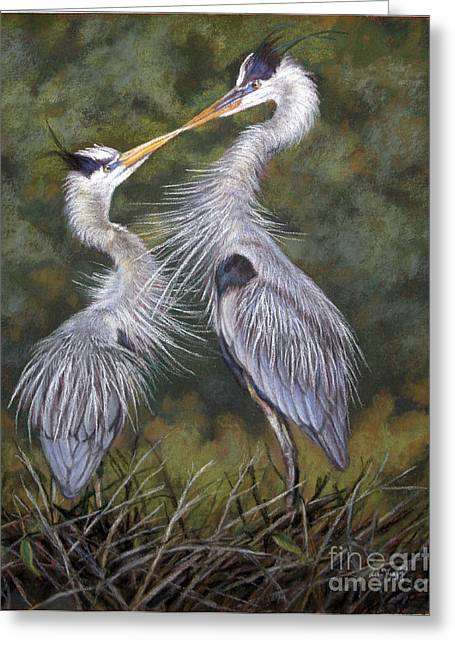 Great Pastels Greeting Cards - The Kiss Greeting Card by Deb LaFogg-Docherty