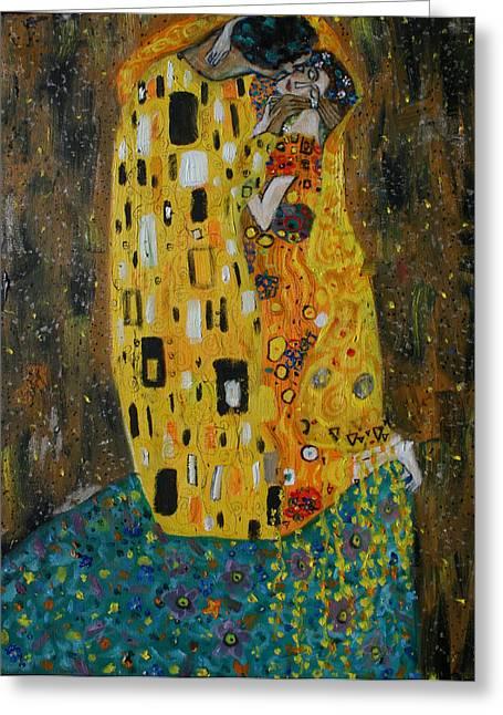 The Kiss Greeting Card by Hannah Curran