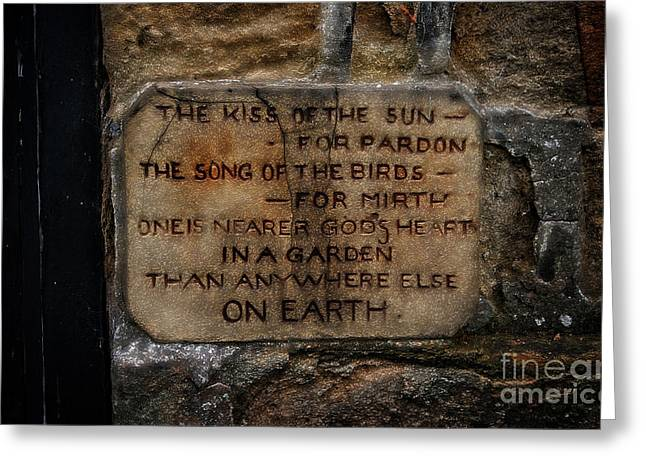 Garden Scene Mixed Media Greeting Cards - The Kiss Of The Sun Greeting Card by Michael Braham
