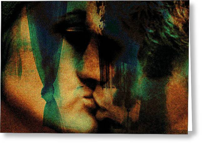 Dunaway Greeting Cards - The Kiss Greeting Card by Penelope Stephensen