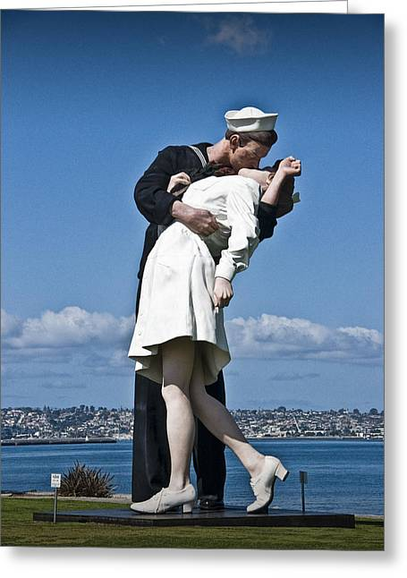 Interior Scene Photographs Greeting Cards - The Kiss Greeting Card by Randall Nyhof