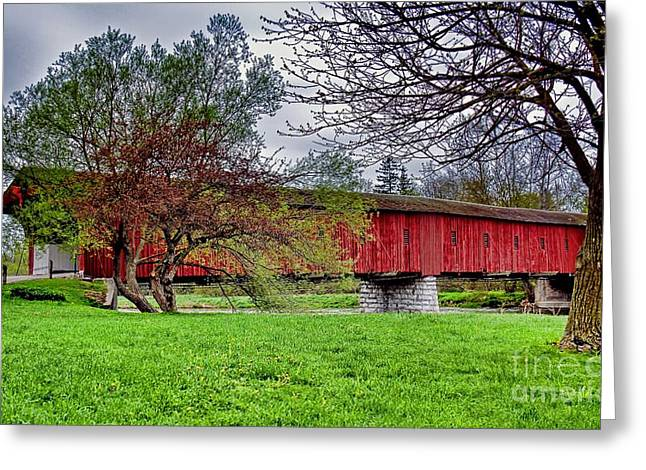 Braches Greeting Cards - The Kissing Bridge Greeting Card by Henry Kowalski