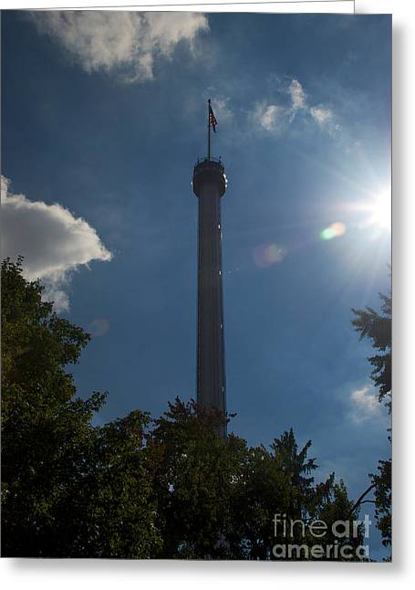 Mhs Greeting Cards - The Kissing Tower Greeting Card by Mark Dodd